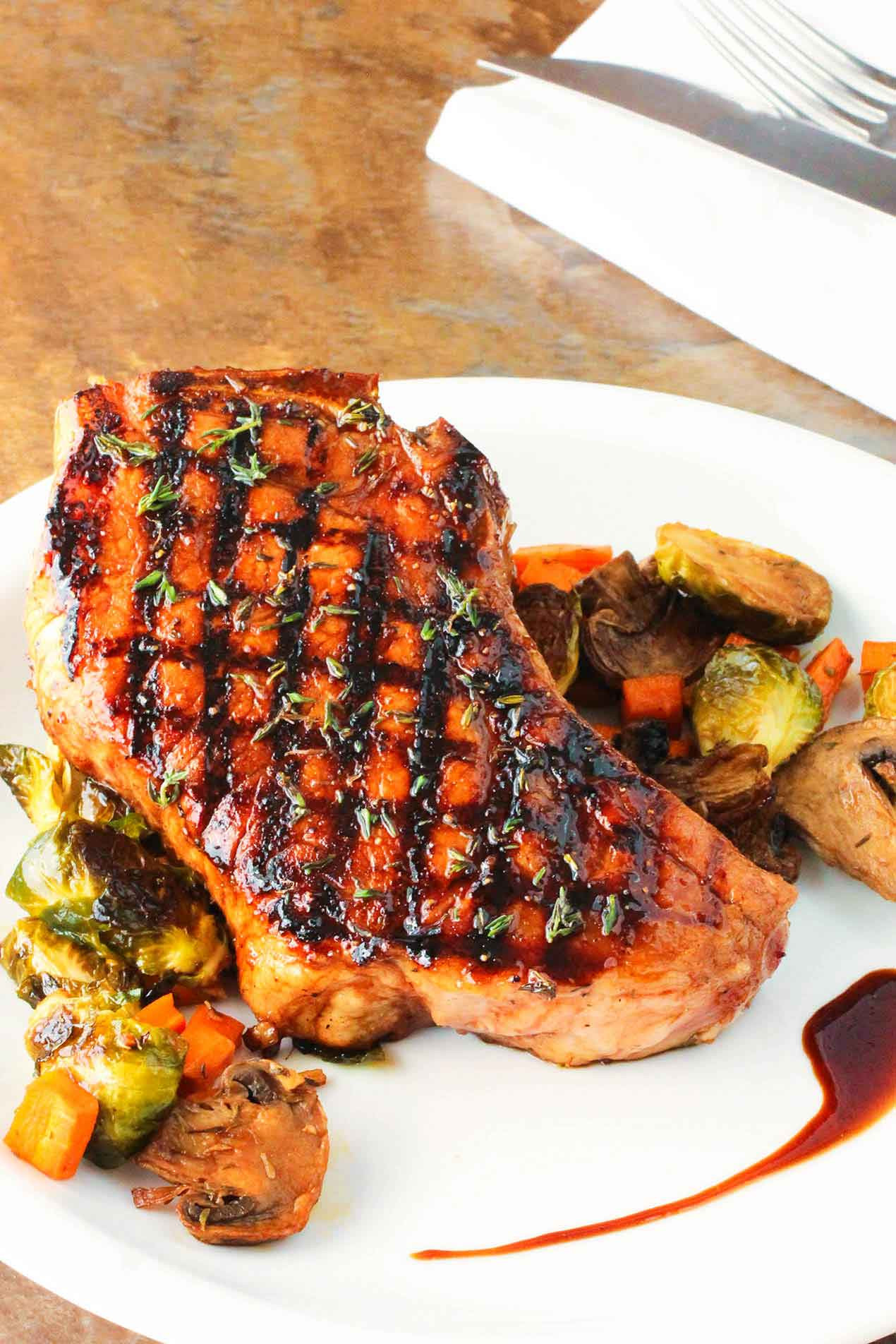 Grill Pork Chops  Balsamic Grilled Pork Chops How To Feed A Loon