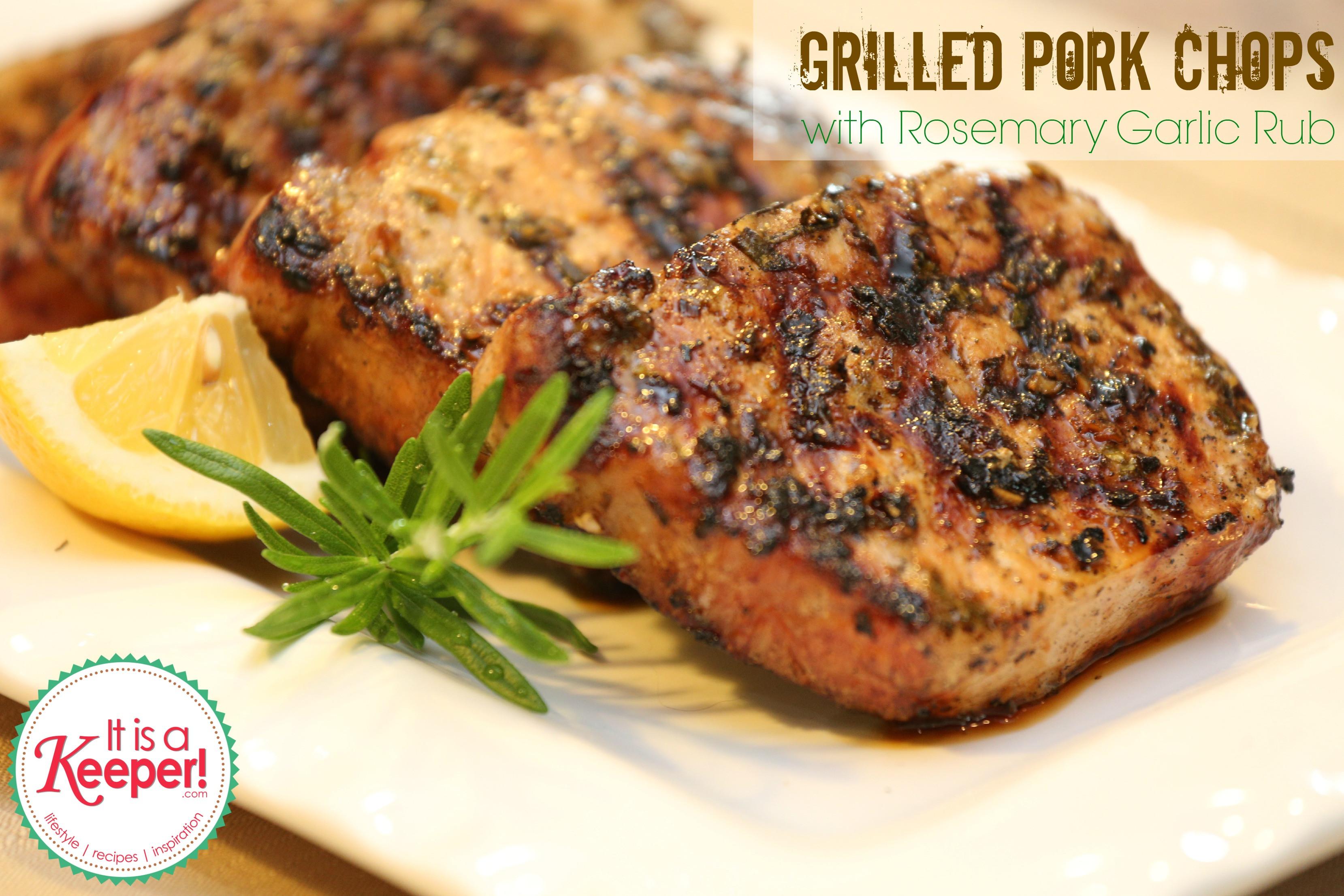 Grill Pork Chops  Grilled Pork Chops with Rosemary Garlic Rub