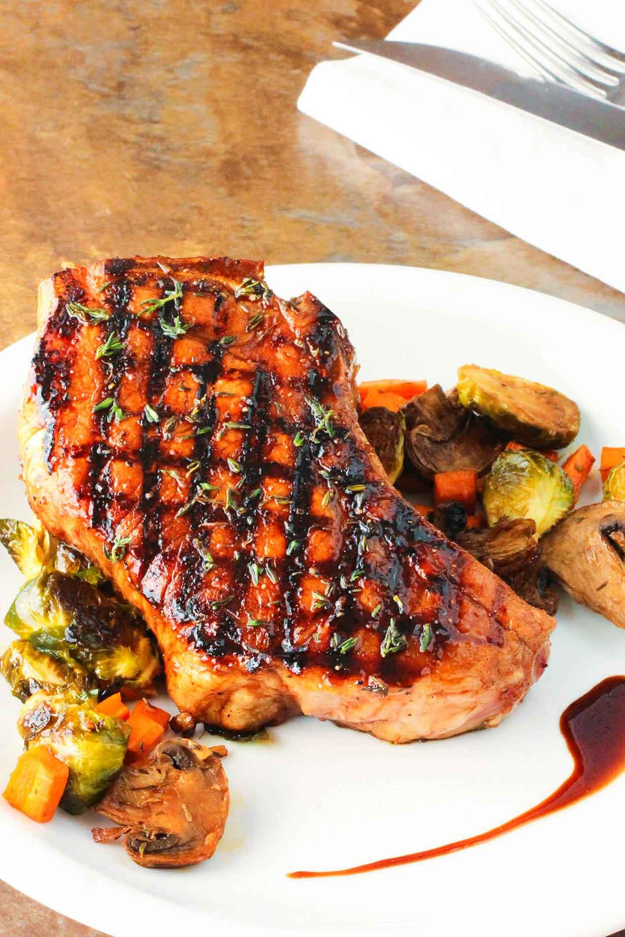 Grill Pork Chops Time  Balsamic Grilled Pork Chops