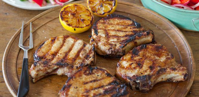 Grill Pork Chops Time  Recipes Grilled Pork Chops Glazed with Brown Sugar
