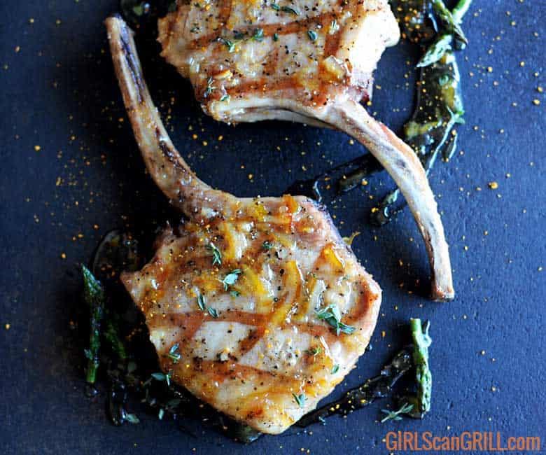 Grill Pork Chops Time  Juicy Grilled Pork Chops with Cumin Orange Marmalade