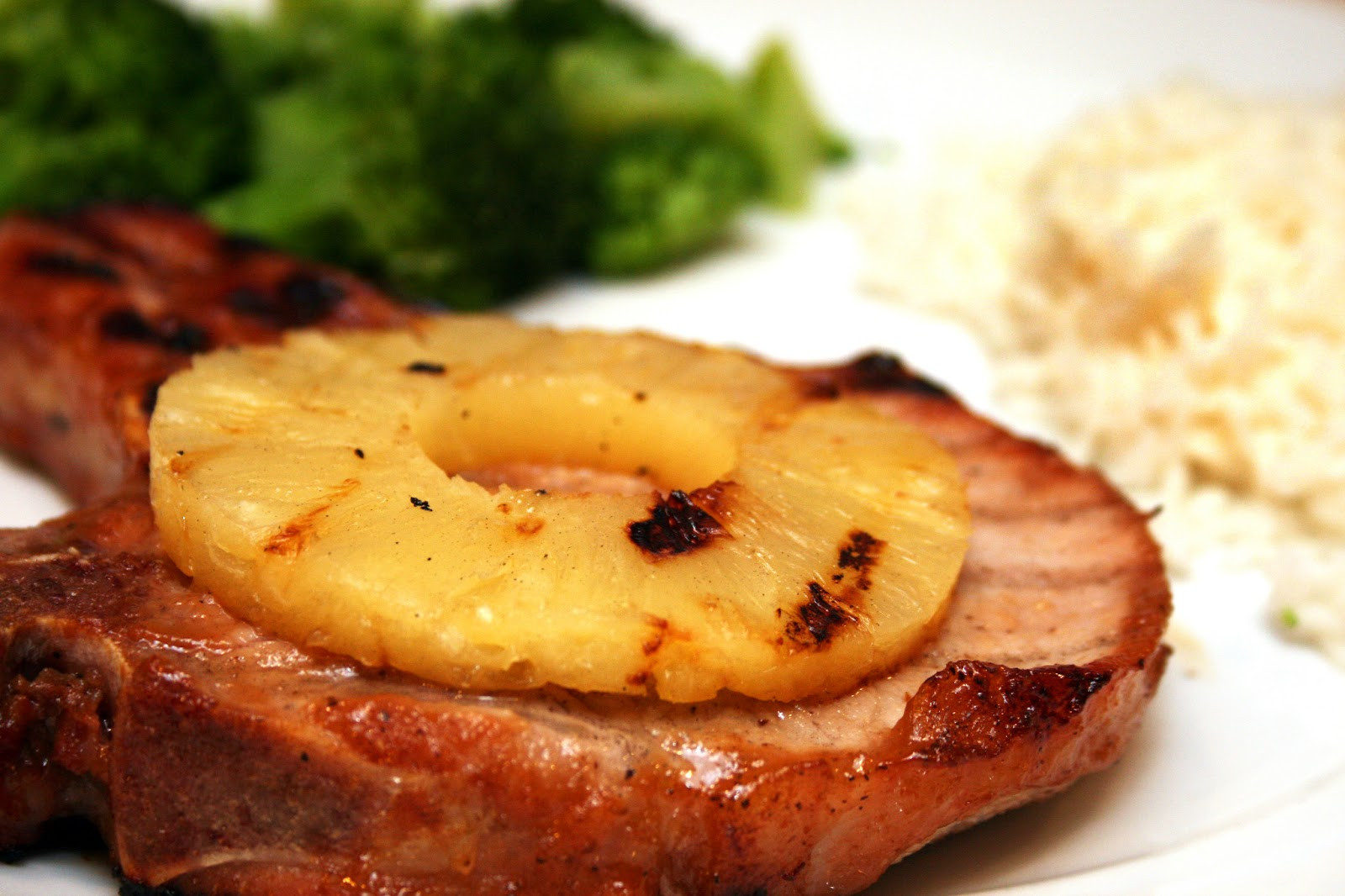 Grill Pork Chops Time  Lazy Gluten Free Grilled Pineapple Pork Chops