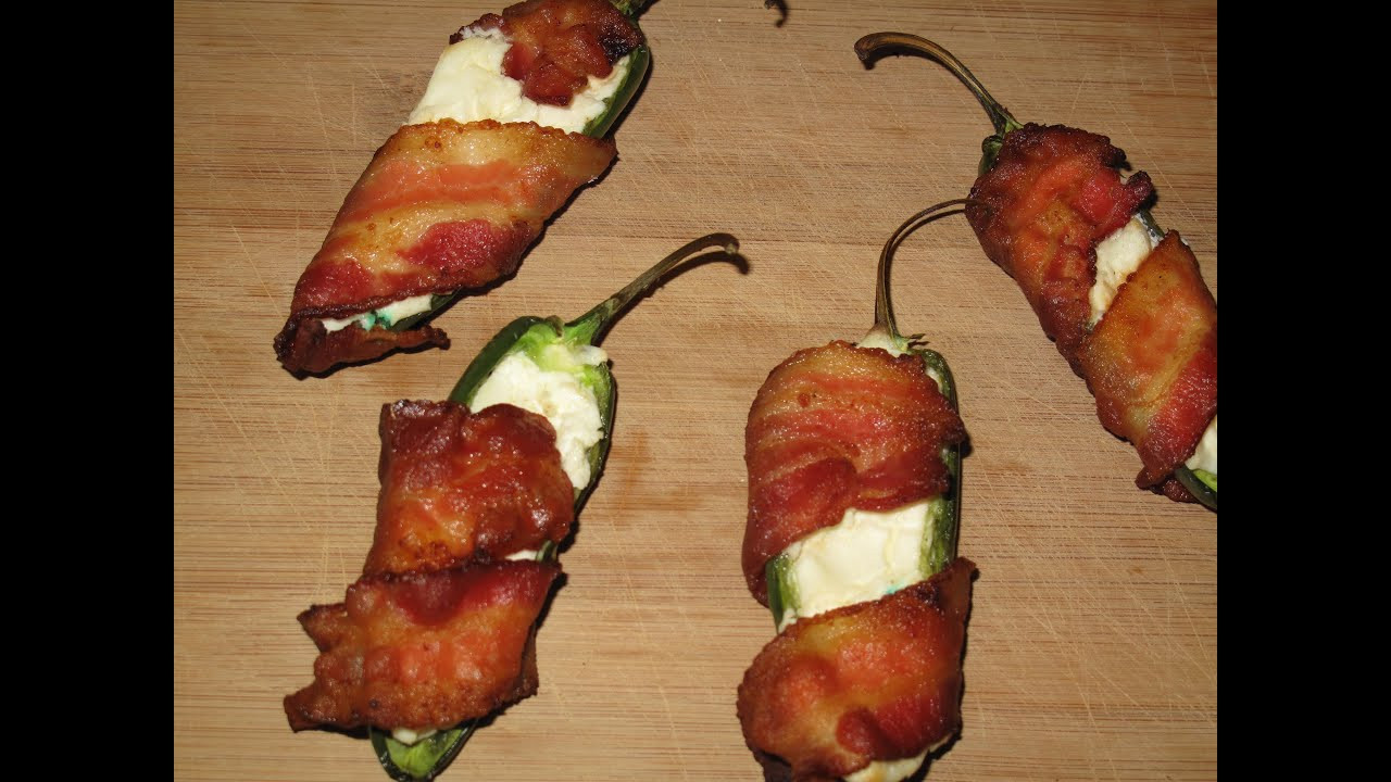 Grilled Bacon Wrapped Jalapeno Poppers  Grilled Bacon Wrapped Jalapeno Poppers Recipe