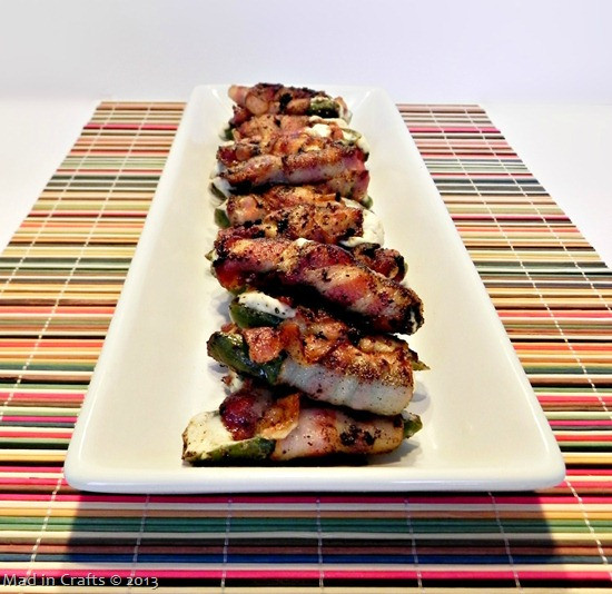 Grilled Bacon Wrapped Jalapeno Poppers  Big Game Appetizers Grilled Bacon Wrapped Jalapeno