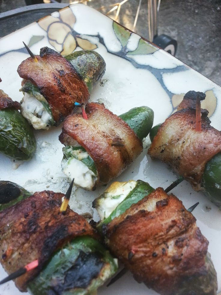 Grilled Bacon Wrapped Jalapeno Poppers  34 best images about Grilled Peppers on Pinterest