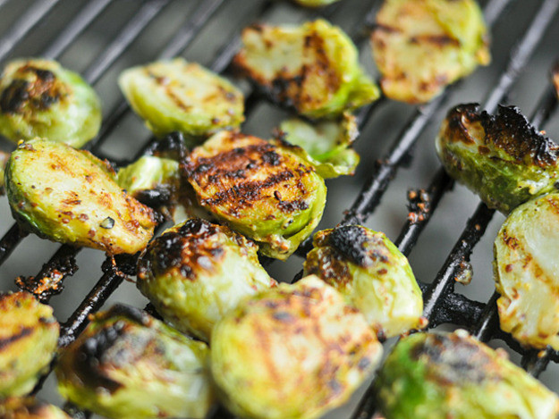 Grilled Brussels Sprouts  Grilled Crispy Mustard Brussels Sprouts Recipe