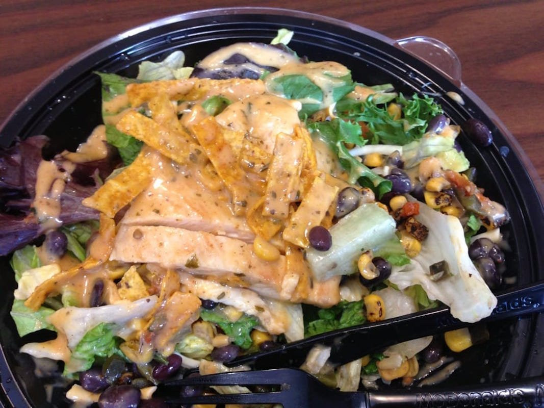 Grilled Chicken Salad Calories  20 fast food salads ranked by calories Feedburner