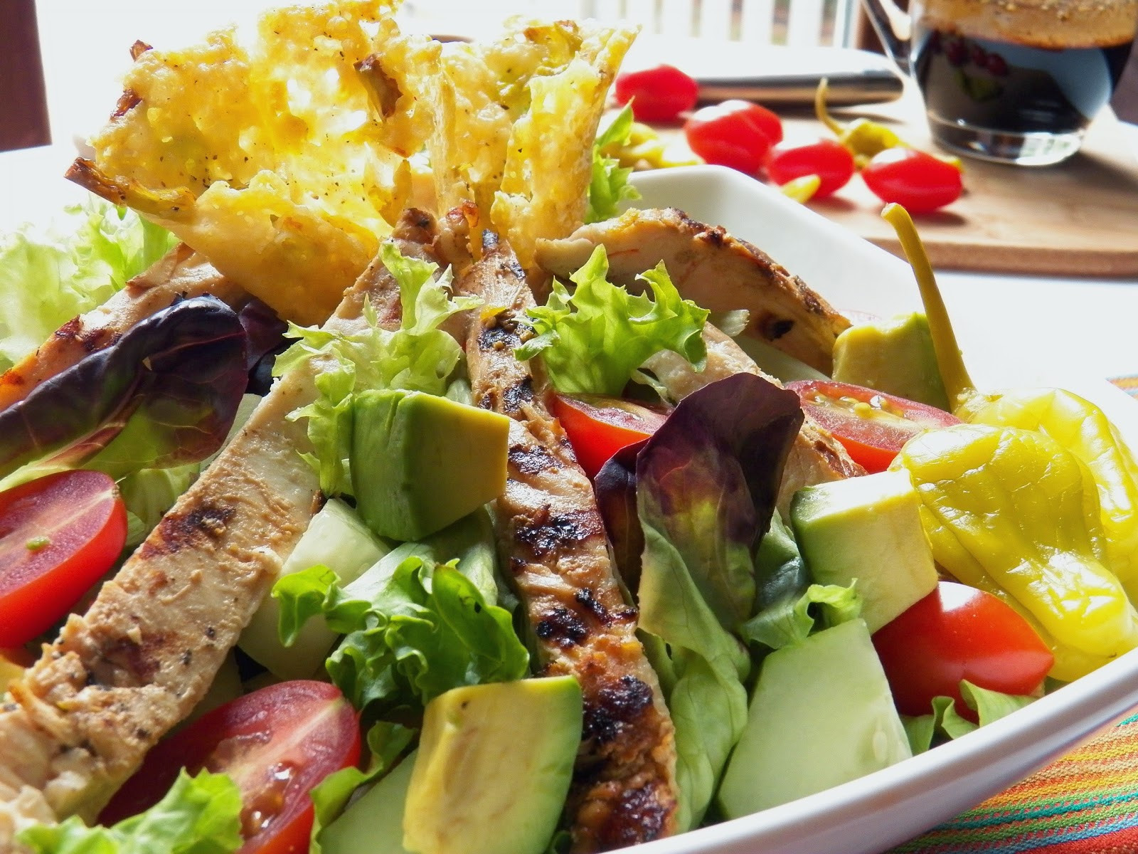 Grilled Chicken Salad Calories  calories in grilled chicken salad with balsamic dressing