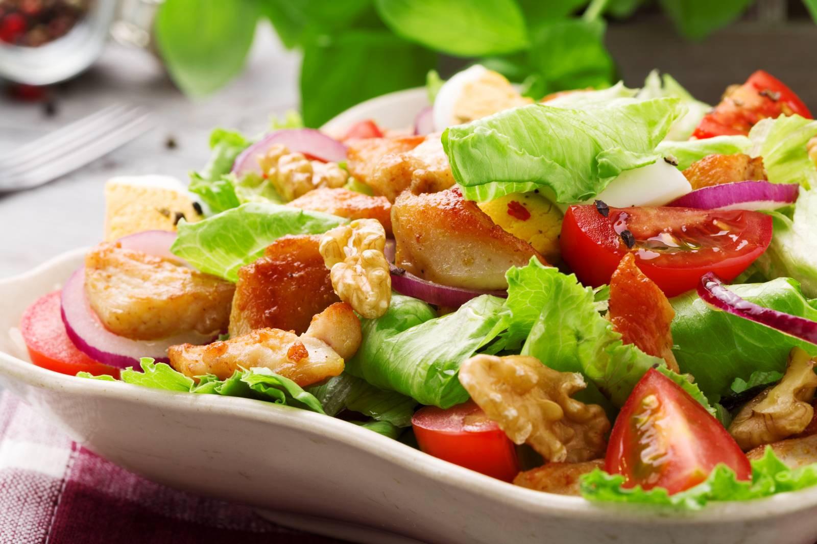 Grilled Chicken Salad Recipes  Grilled Chicken Salad Recipe by Archana s Kitchen