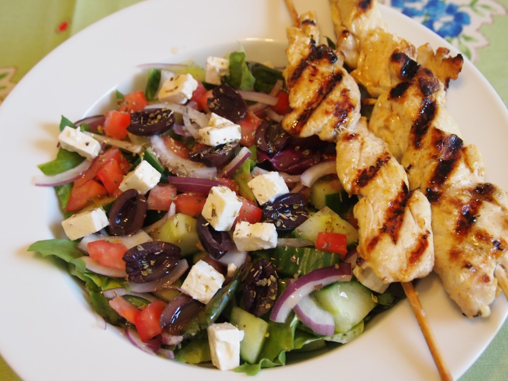 Grilled Chicken Salad Recipes  Greek Salad Recipe with Grilled Lemon Chicken culicurious