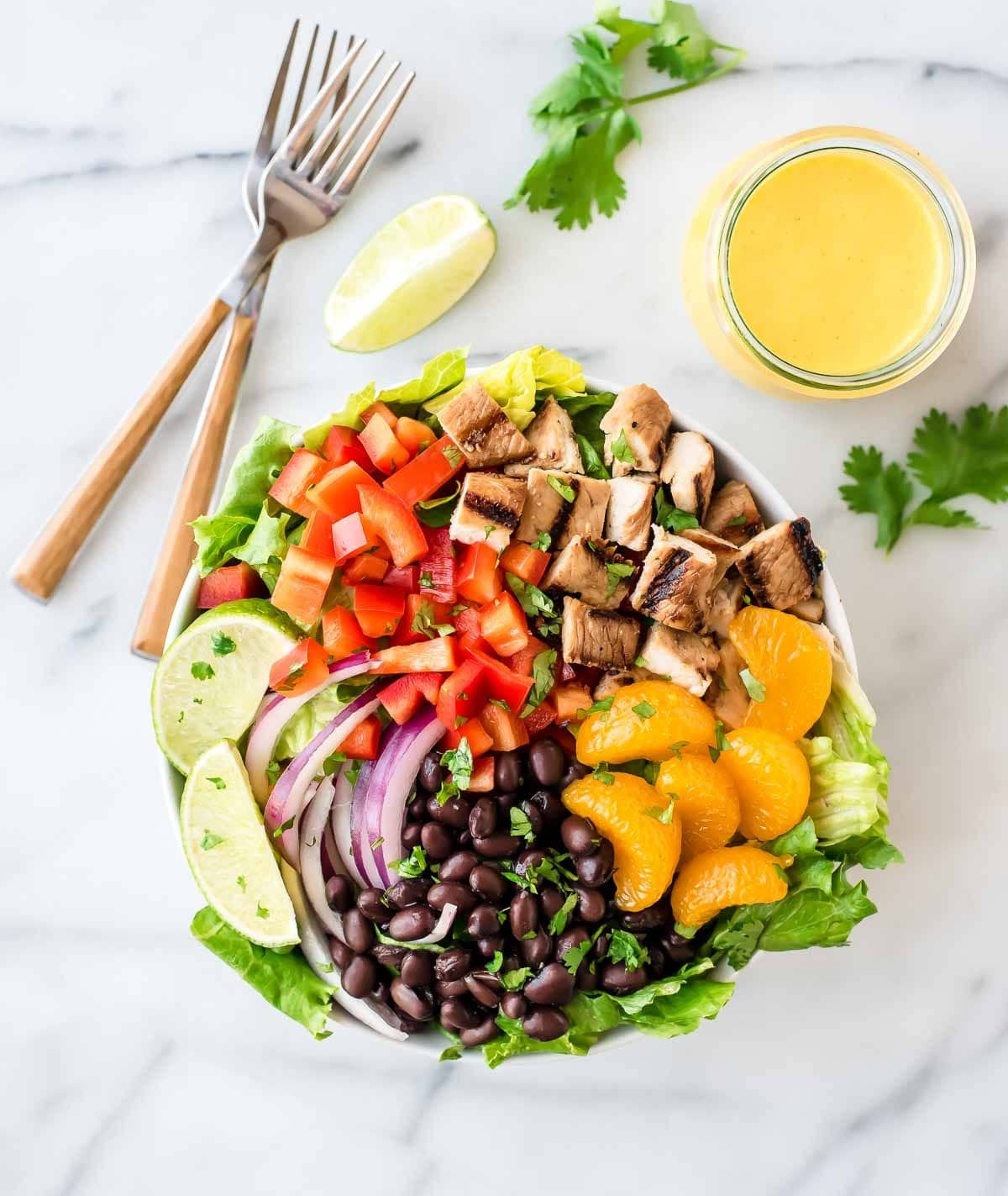 Grilled Chicken Salad Recipes  Caribbean Chicken Salad with Mango Dressing