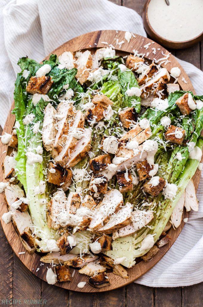Grilled Chicken Salad Recipes  Grilled Chicken Caesar Salad Recipe Runner