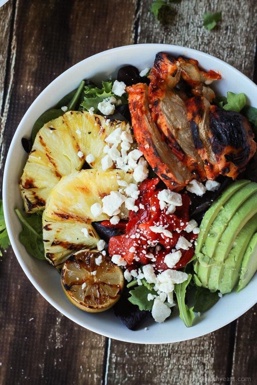 Grilled Chicken Salad Recipes  Harissa Lime Grilled Chicken Salad with Creamy Cilantro