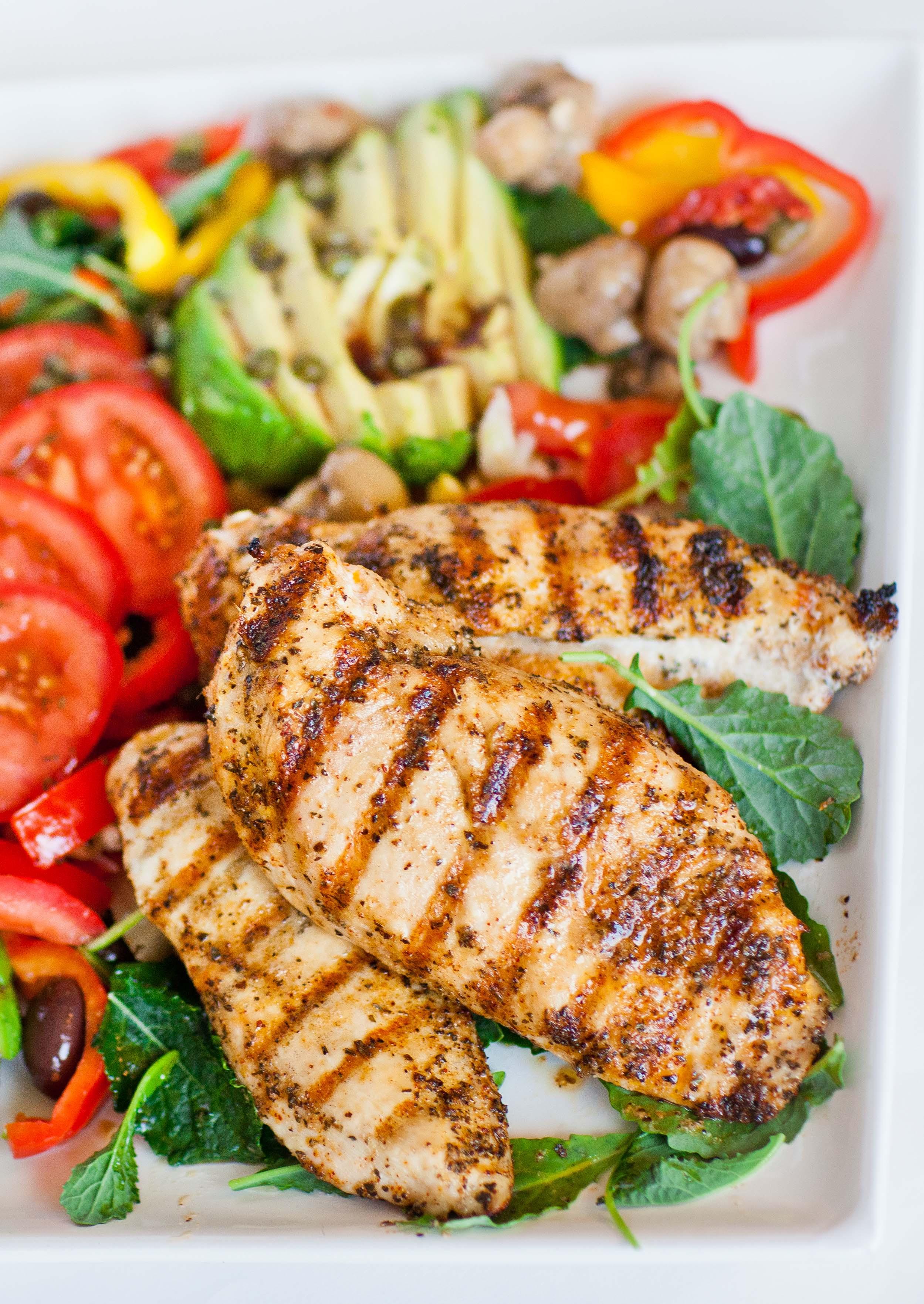 Grilled Chicken Salad Recipes  Grilled Chicken Mediterranean Salad Tatyanas Everyday Food