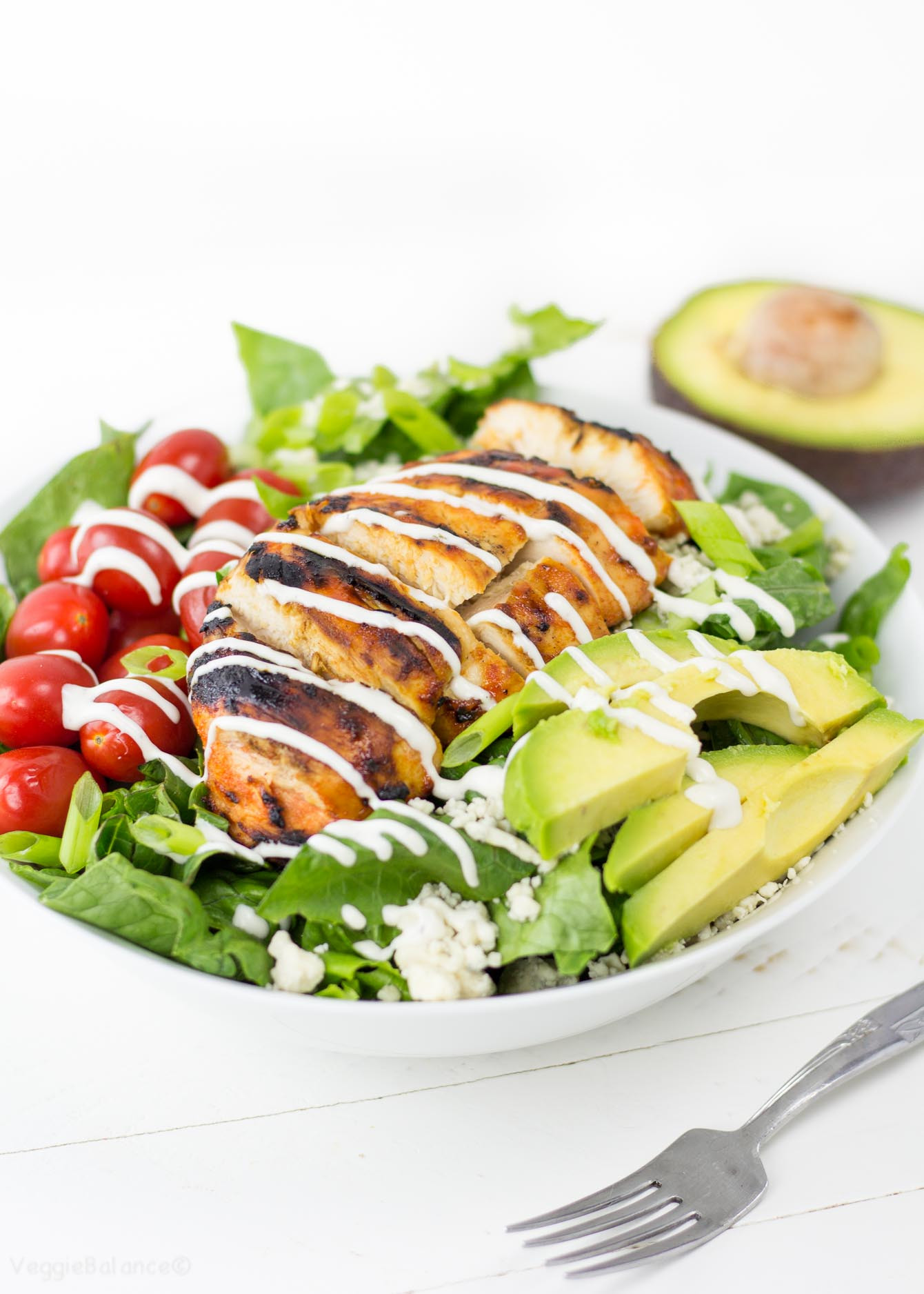 Grilled Chicken Salad Recipes  Grilled Buffalo Chicken Salad recipe with Easy Ranch