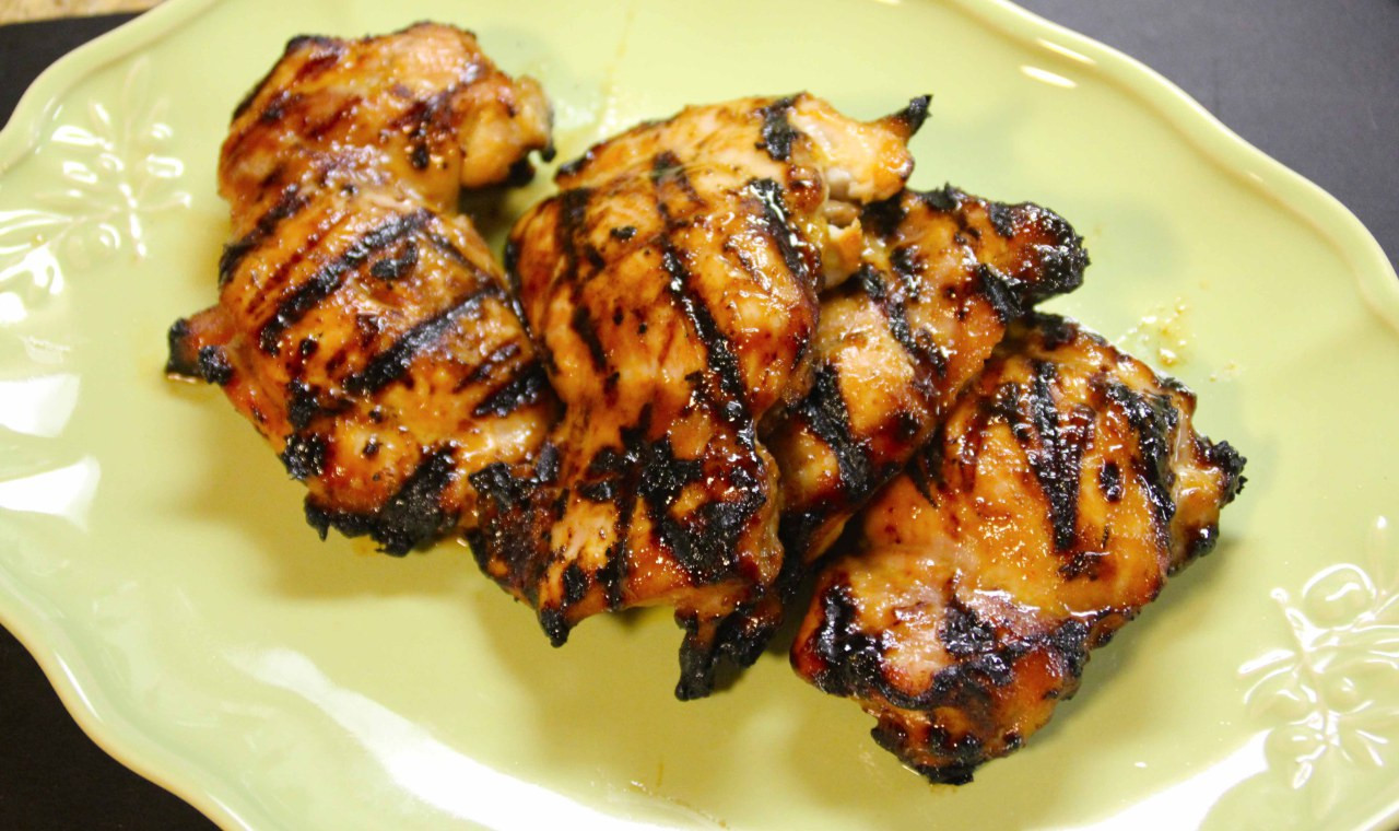 Grilled Chicken Thighs  Citrus Sriracha Grilled Chicken Thighs