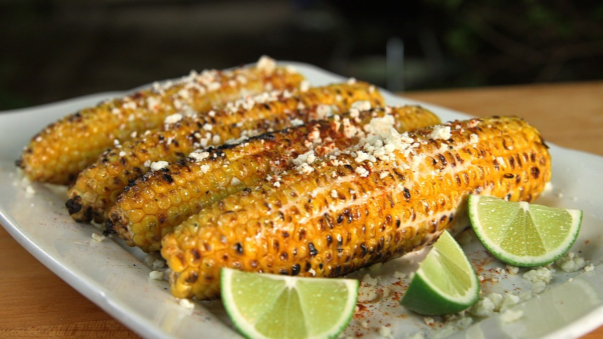 Grilled Corn Recipe  grilled corn on the cob with mayo
