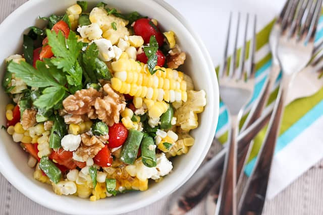 Grilled Corn Salad  Grill Roasted Corn Salad • The Healthy Foo