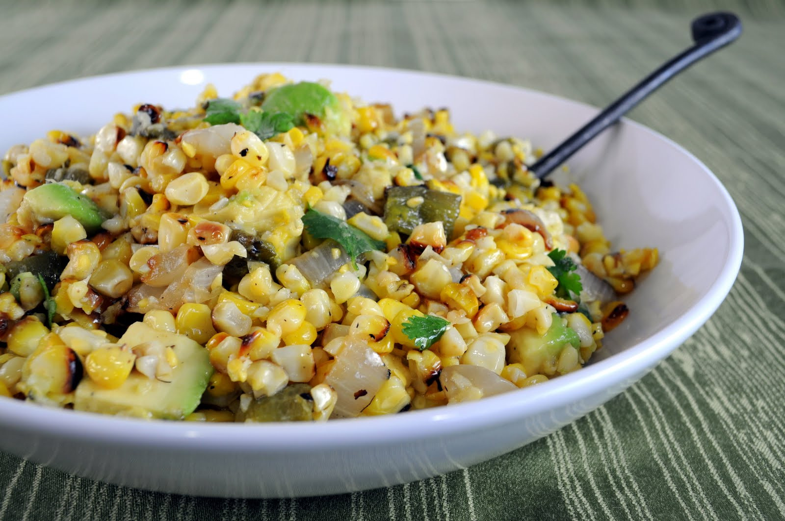 Grilled Corn Salad  Grilled Corn Poblano and ion Salad with Lime