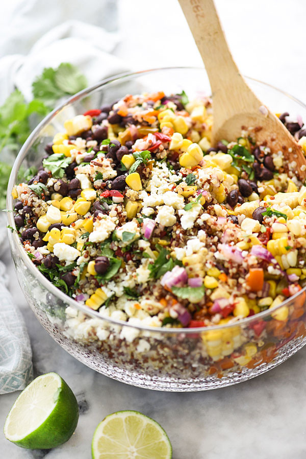 Grilled Corn Salad  Southwest Quinoa and Grilled Corn Salad