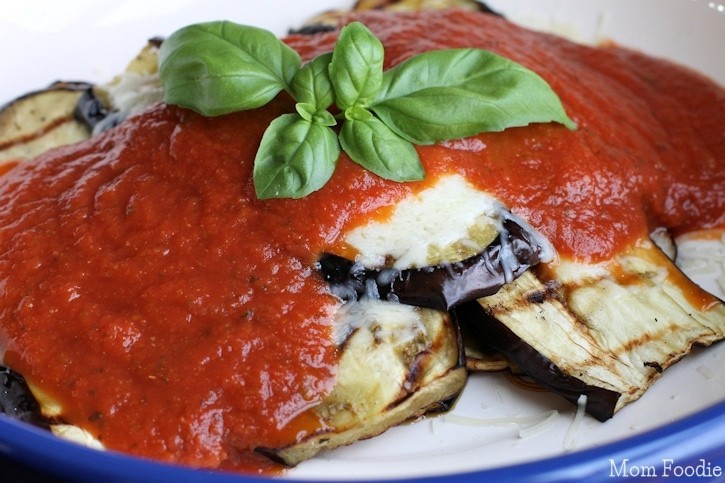 Grilled Eggplant Parmesan  Grilled Eggplant Parmesan Recipe Low Carb Ve arian Dinner