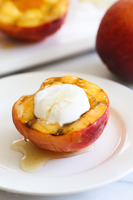 Grilled Peaches Dessert  Grilled Peaches With Honey and Yogurt