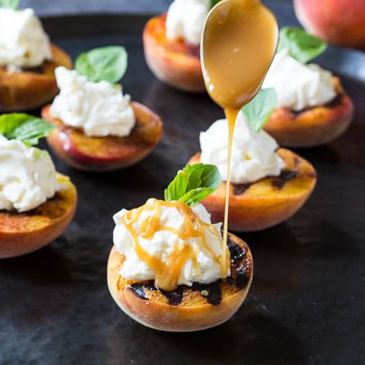 Grilled Peaches Dessert  Grilled Peaches with Mascarpone Whipped Cream Spicy