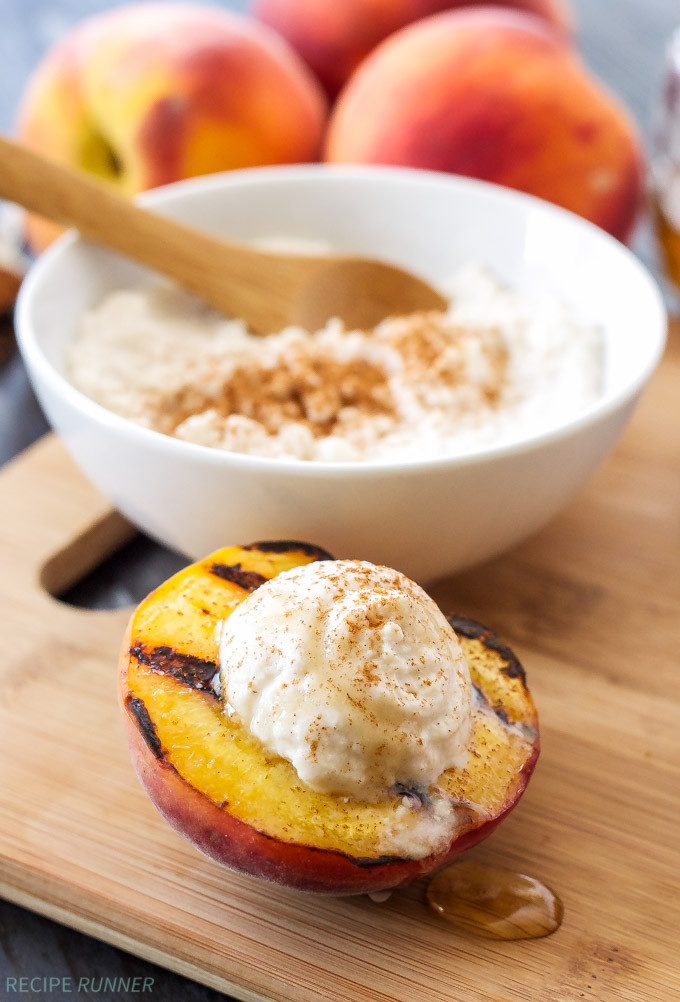 Grilled Peaches Dessert  Grilled Peaches with Cinnamon Honey Ricotta Recipe Runner