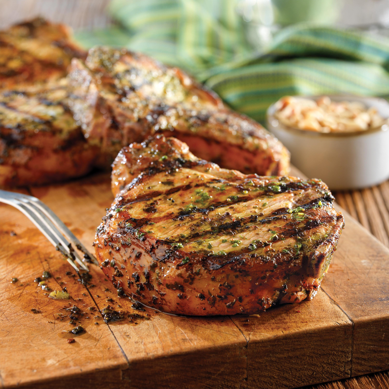 Grilled Pork Chops  Grilled Pork Chops with Basil Garlic Rub Pork Recipes