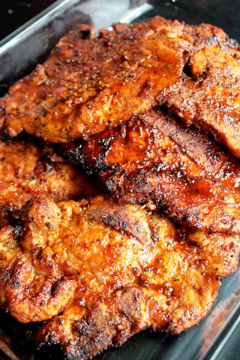Grilled Pork Chops  Grilled Pork Chops Creole Contessa