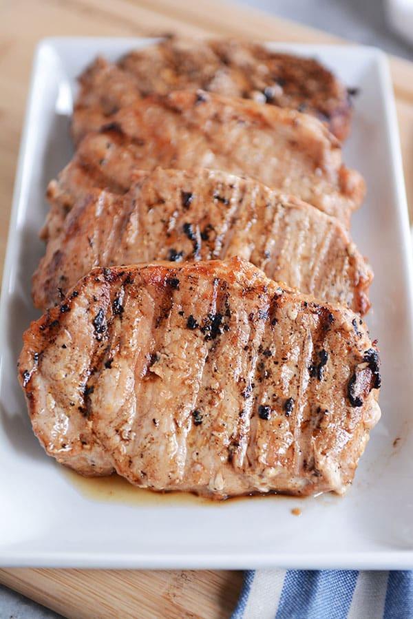 Grilled Pork Chops  Tender Grilled Pork Chops Mel s Kitchen Cafe