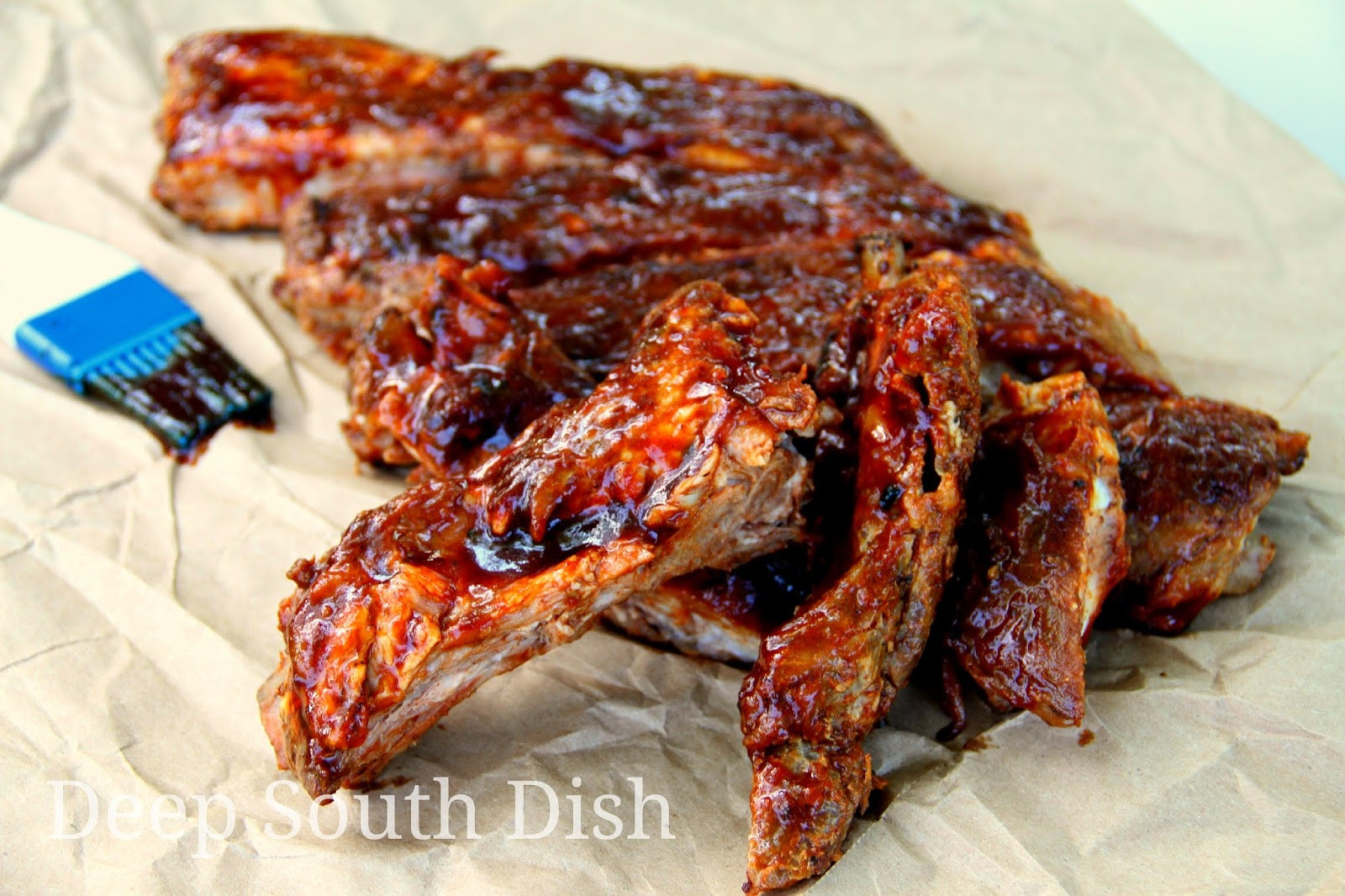 Grilled Pork Ribs Recipe  Deep South Dish Grilled Pork Spareribs or Baby Back Ribs