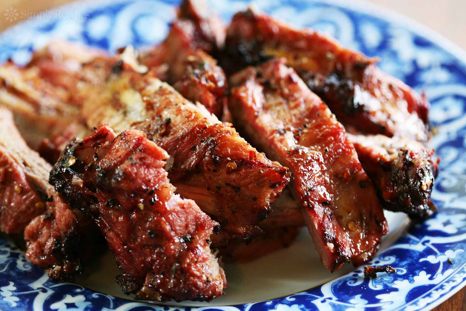 Grilled Pork Ribs Recipe  Grilled Spicy Citrus Ribs with Bourbon Glaze Recipe