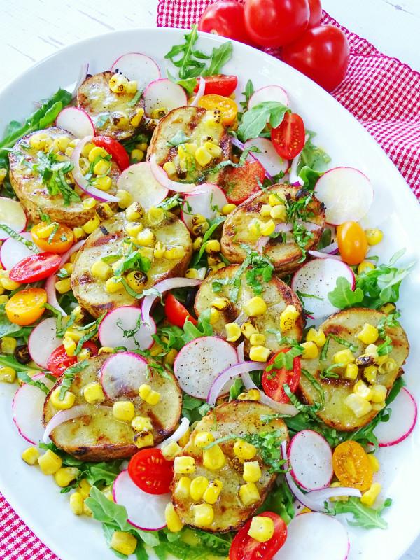 Grilled Potato Salad  Grilled Potato Salad Proud Italian Cook