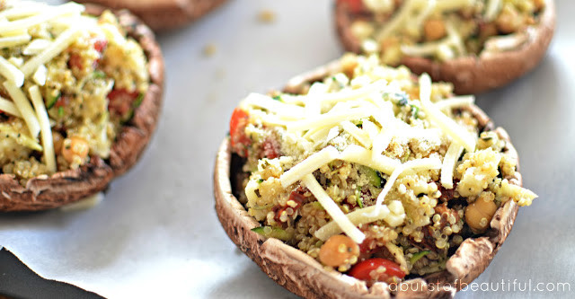 Grilled Stuffed Portobello Mushrooms  Grilled Stuffed Portobello Mushrooms A Burst of Beautiful