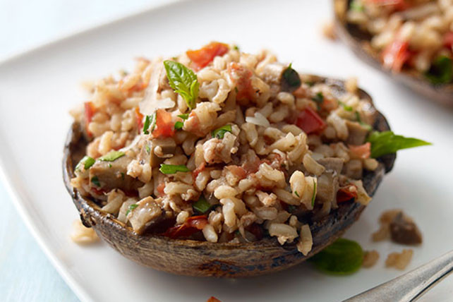 Grilled Stuffed Portobello Mushrooms  Grilled Stuffed Portobello Mushrooms for Two Kraft Recipes