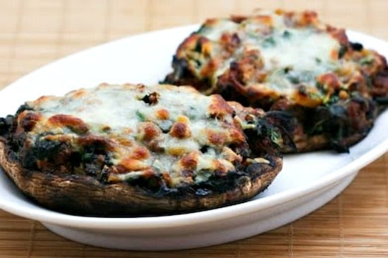 Grilled Stuffed Portobello Mushrooms  Grilled Portobello Mushrooms Stuffed with Sausage Spinach