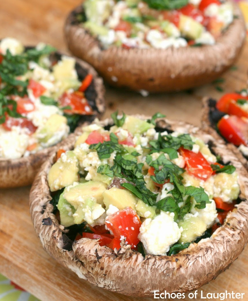 Grilled Stuffed Portobello Mushrooms  Grilled Stuffed Portobello Mushrooms Echoes of Laughter