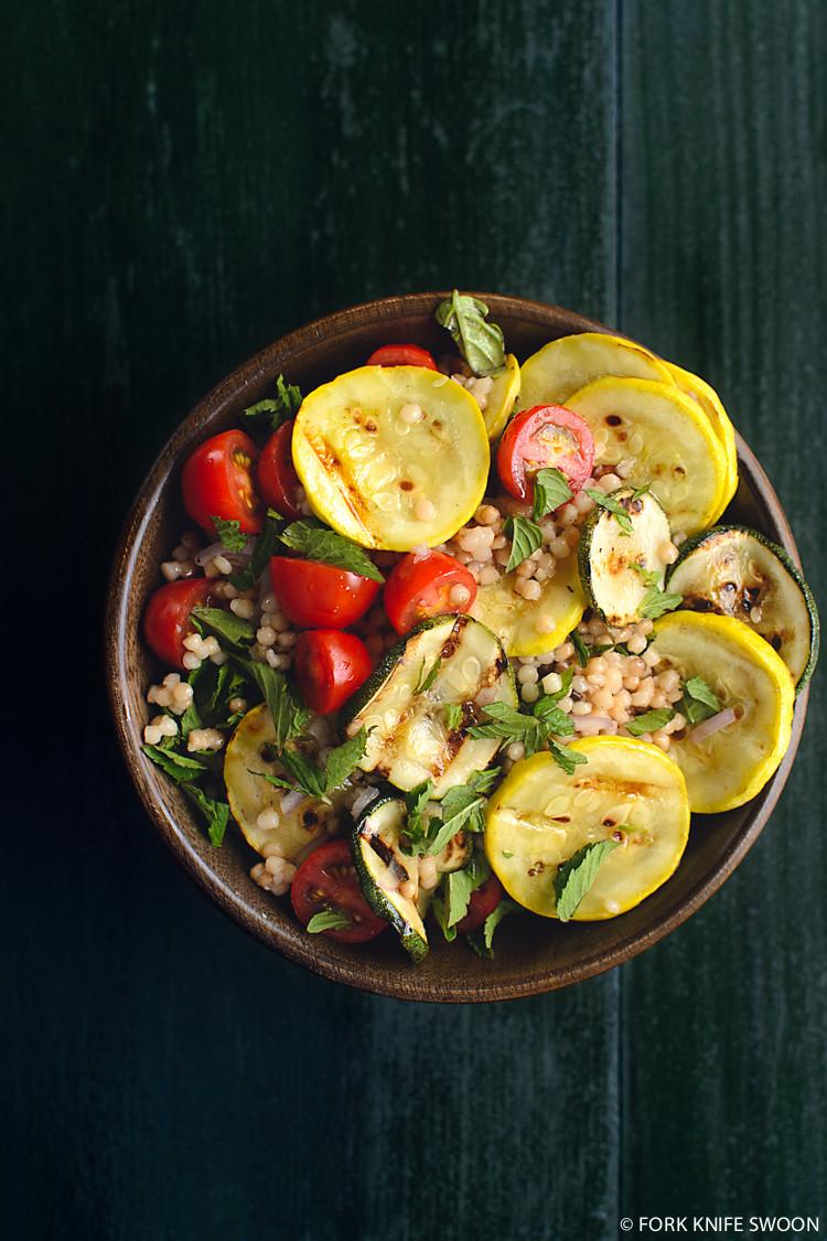 Grilled Summer Squash  Grilled Summer Squash Couscous and Tomato Salad