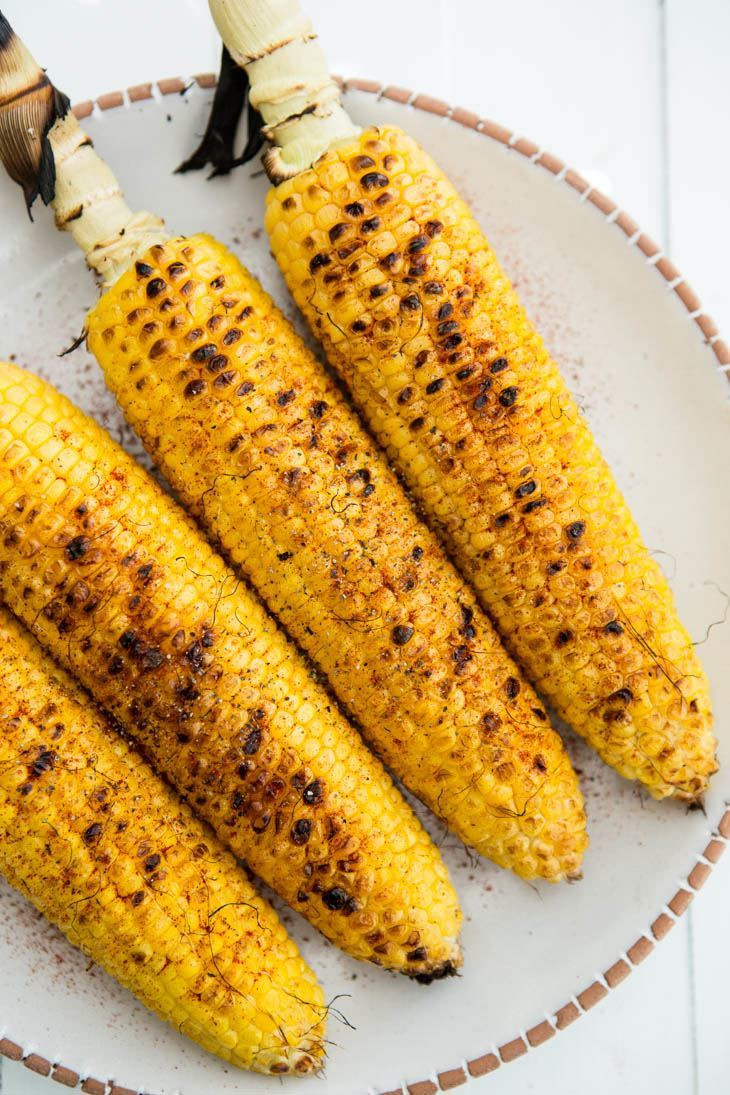 Grilled Sweet Corn  Farmers Market Summer Ve arian Sides Cats Love Cooking