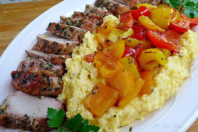 Grilled Whole Pork Loin  Grilled Whole Pork Tenderloin With Peppers Over Polenta