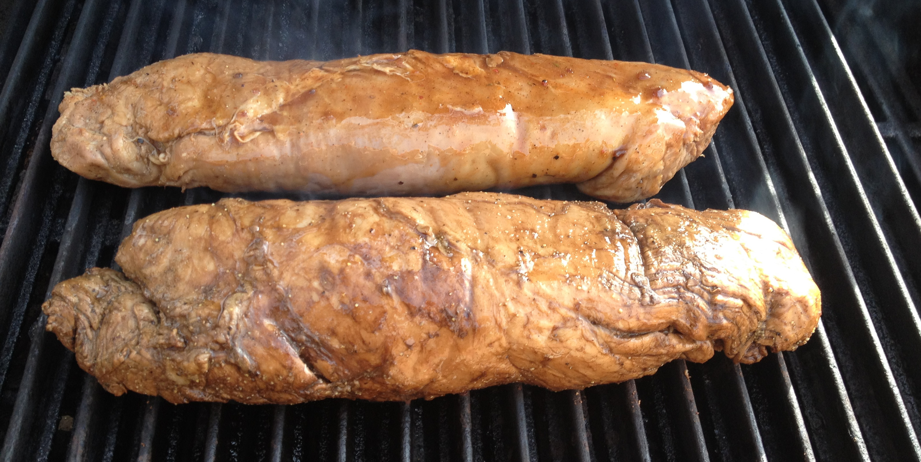 Grilled Whole Pork Loin  grilling whole pork loin