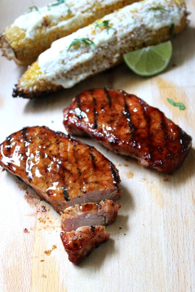 Grilling Boneless Pork Chops  Grilled Boneless Pork Chops with BBQ sauce SAVOIR FAIRE