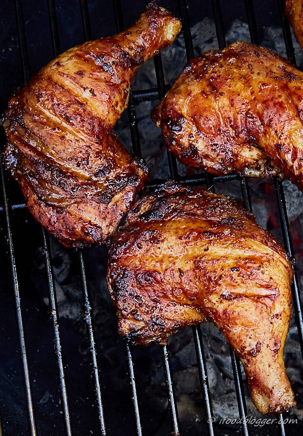 Grilling Chicken Thighs On Gas Grill  Kickin Grilled Chicken Legs i FOOD Blogger