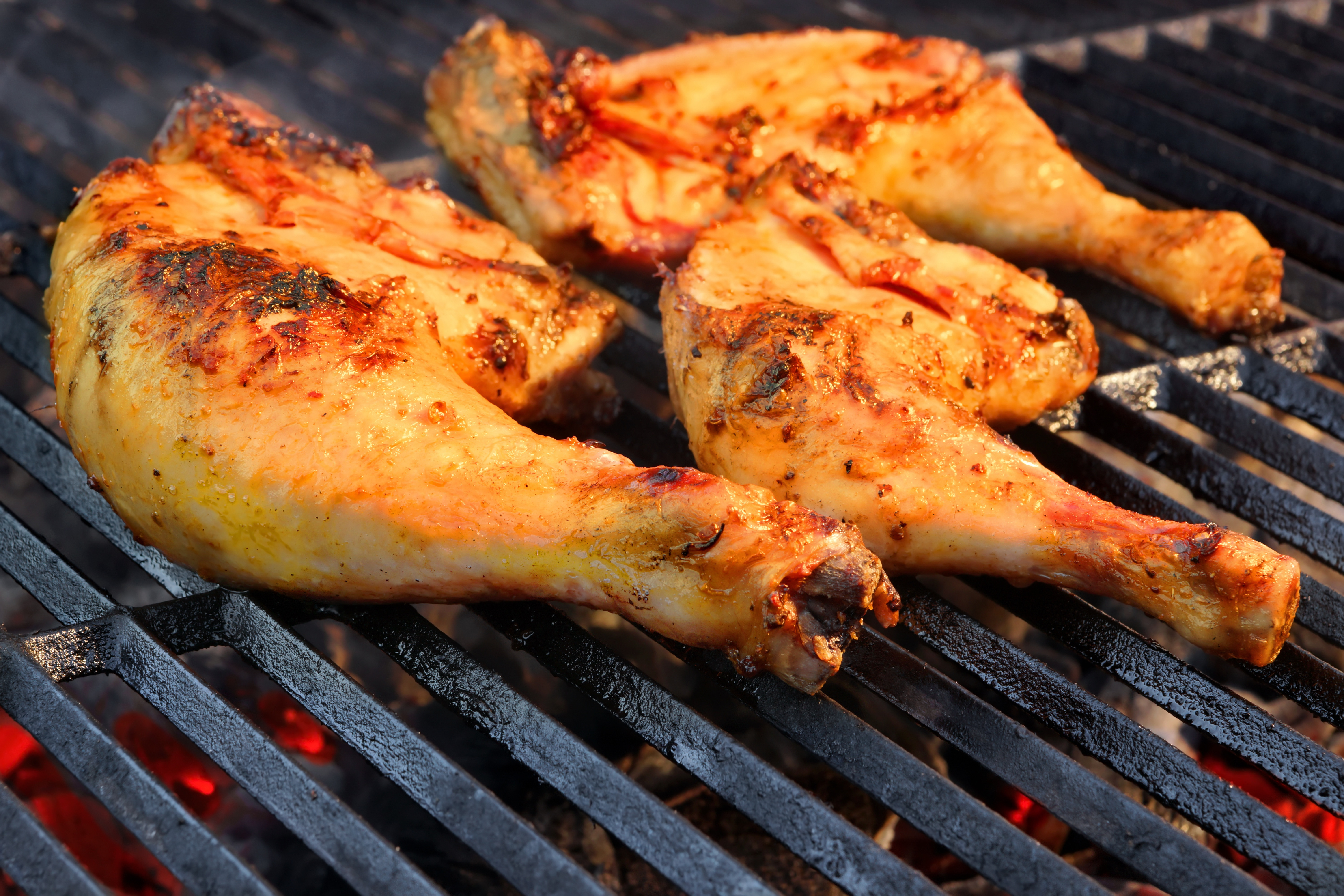 Grilling Chicken Thighs On Gas Grill  Orange Glazed Chicken and Sweet Potatoes – Harvest