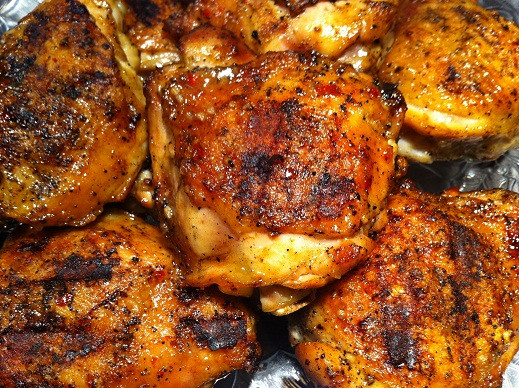 Grilling Chicken Thighs On Gas Grill  gas grilled chicken thighs