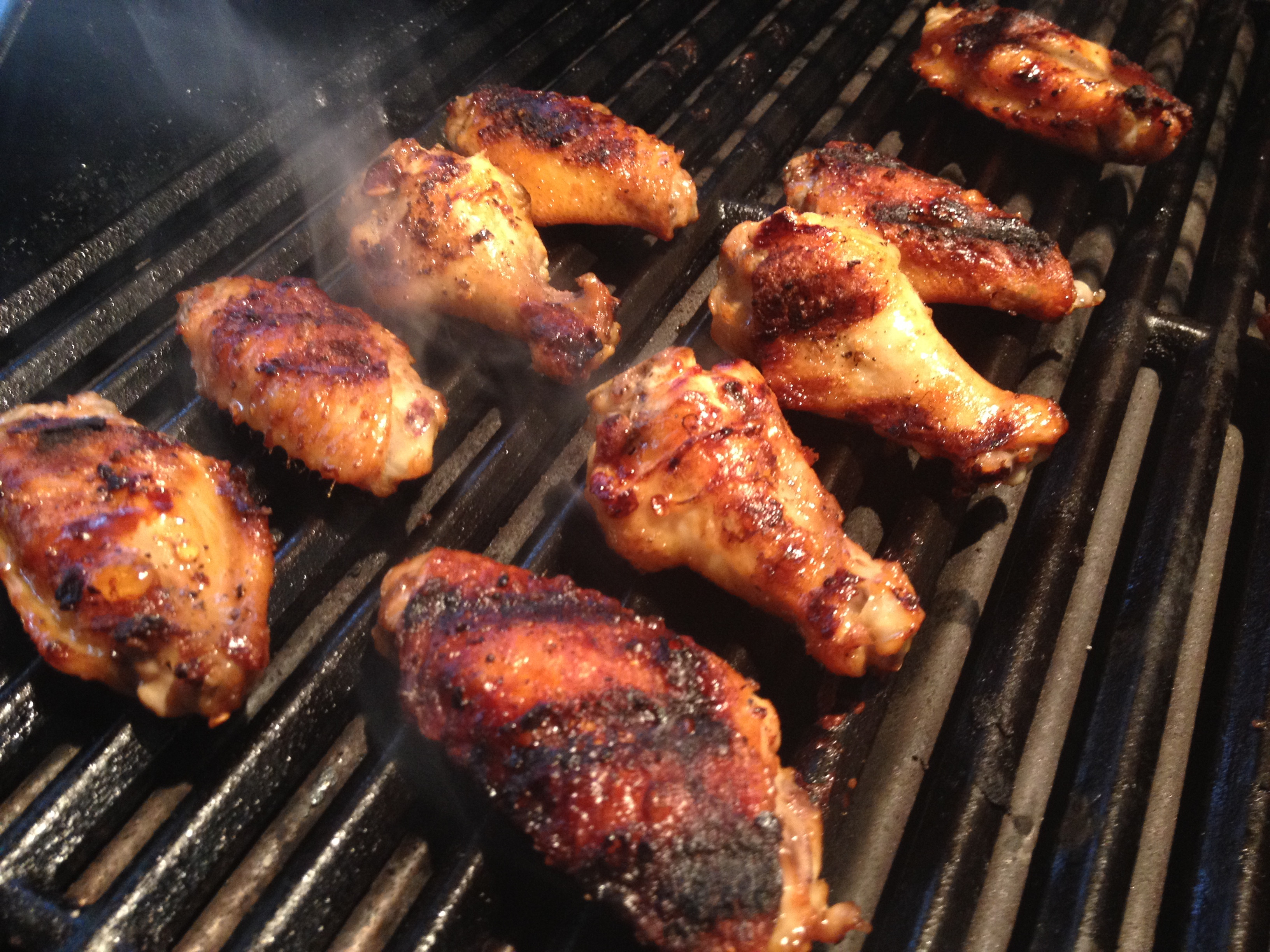 Grilling Chicken Wings  Grilled Filipino Adobo Chicken Wings