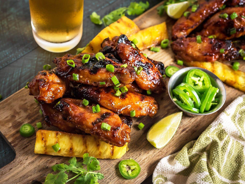 Grilling Chicken Wings  Hawaiian Huli Huli Grilled Chicken Wings Recipe
