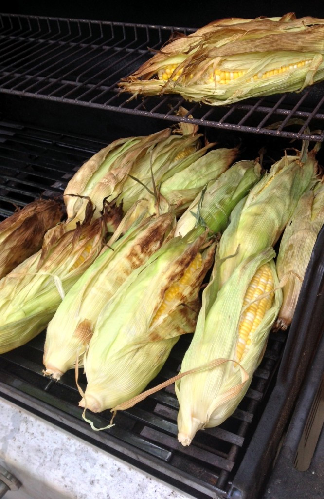 Grilling Corn In The Husk  Grilled in Husk Corn on the Cob