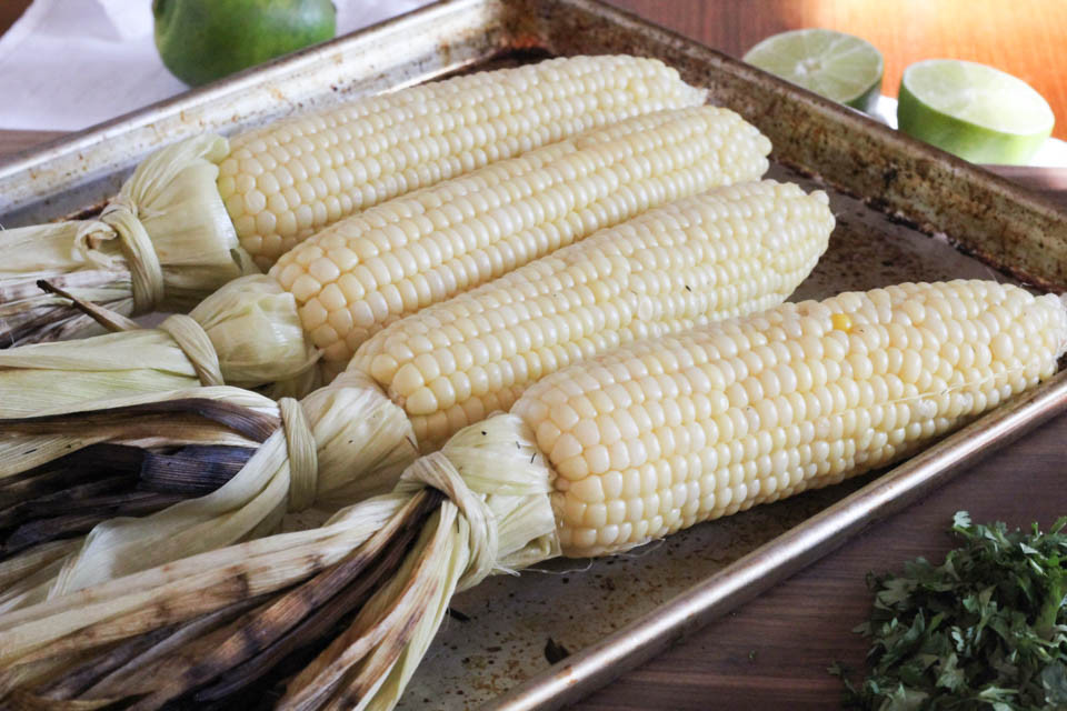 Grilling Corn In The Husk  Easy Mayo Free Mexican Grilled Corn Summer Recipe